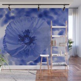 Blue poppy Wall Mural