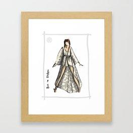 Zoe in Odylyne Framed Art Print