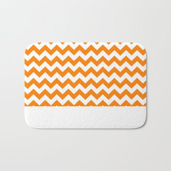 Chevron (Orange/White) Bath Mat