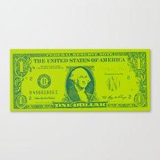 GREEN MONEY Canvas Print