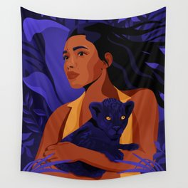 Protect Panther Wall Tapestry