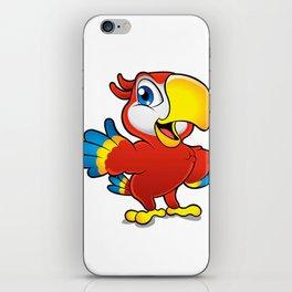 Cute cartoon colorful macaw  iPhone Skin