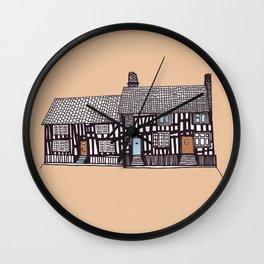 'Suffolk' House print Wall Clock