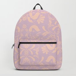 Lovebird Damask Pattern Backpack