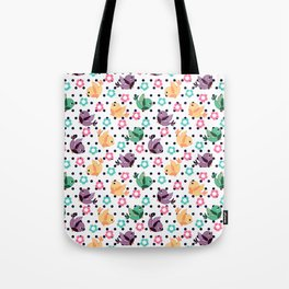 Freely Birds Flying - Fly Away Version 3 - Midnight Blue Dots Color Tote Bag