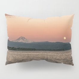 Mt. Hood Moonrise at Sunset Pillow Sham