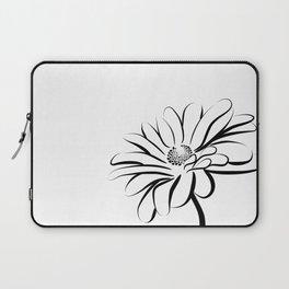 Gerbera Daisy Black & White Print 2 Laptop Sleeve