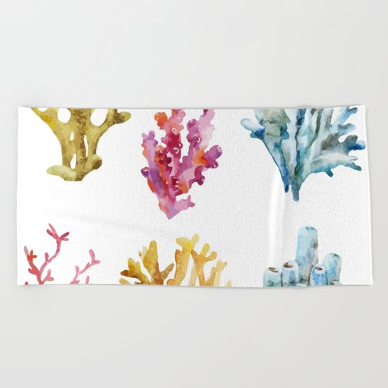 Colorful Chorals Beach Towel