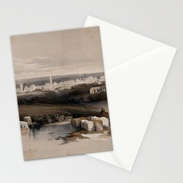 Vintage Print - The Holy Land, Vol 2 (1843) - The town of Ramla Stationery Cards