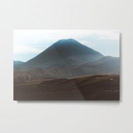 Volcano Mount Doom New Zealand landscape photography Metal Print