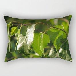 Green birch leaves Rectangular Pillow