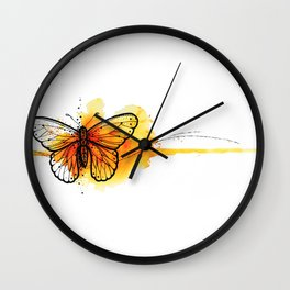 New watercolor butterfly Wall Clock