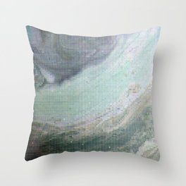 Saturn Infrared Throw Pillow
