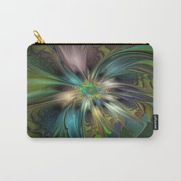 Colorful Abstract Fractal Art Carry-All Pouch