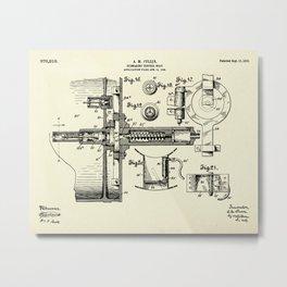 Submarine Torpedo Boat 07-1910 Metal Print