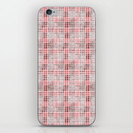 Classical red-gray cell. iPhone Skin