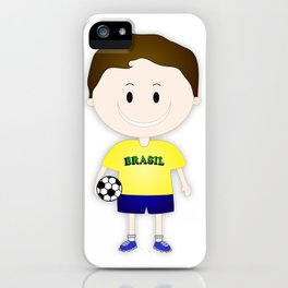 Football Copa Boy Brazil 2014 iPhone Case