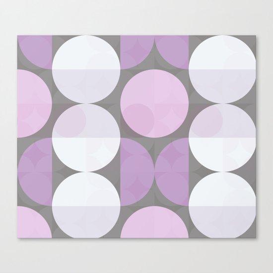 pink grey circular pattern Canvas Print