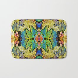 Colorful  Nature Wood Pattern Psychedelic Art Bath Mat