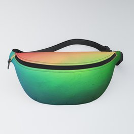 Where to? Textured rainbow color blur Fanny Pack