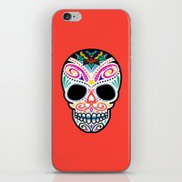 mexican iPhone & iPod Skins featuring Mexican Skull by Blank & Vøid