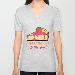 Cheesecake Is My Jam Strawberry Cream Cheese Cracker Pastry Unisex V-Neck