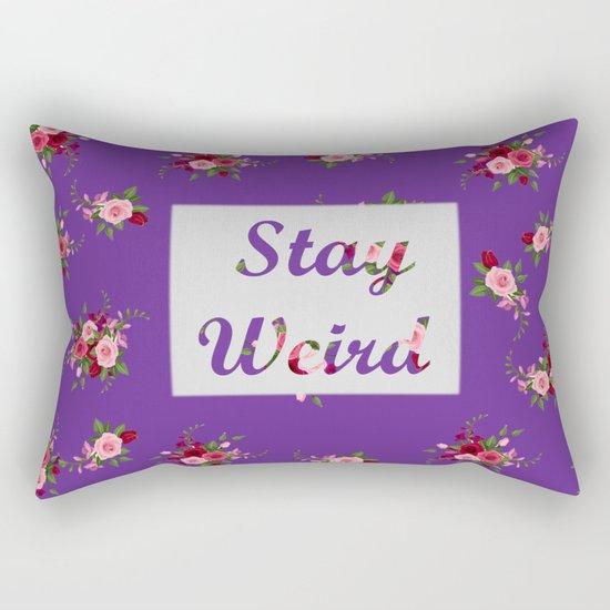stay weird purple Rectangular Pillow