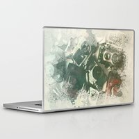 cameras Laptop & iPad Skins featuring Old Cameras by Nechifor Ionut