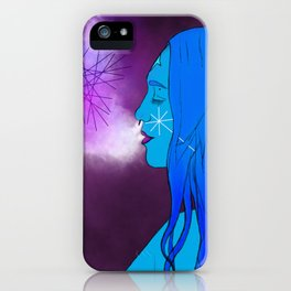 Goddess of cosmic creation iPhone Case