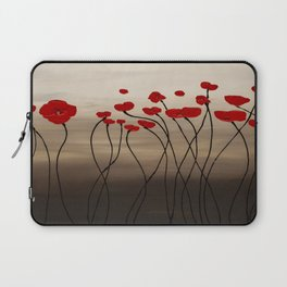 Fleurs en Rouge Laptop Sleeve