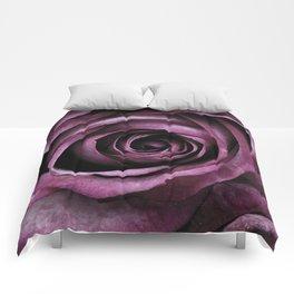 Purple Rose Decorative Flower Comforters