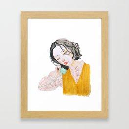 korean girl 4 Framed Art Print