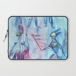 Flag and soldier, Ubu Roi Laptop Sleeve