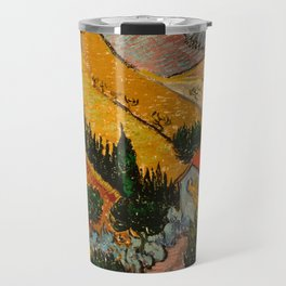 Landscape with House and Ploughman Travel Mug