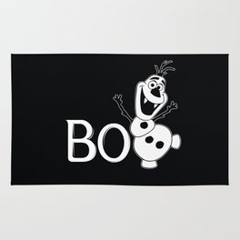 BOO - It's a Snowman! - HALLOWEEN Rug