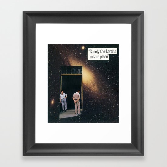 surely the lord is in this place Framed Art Print