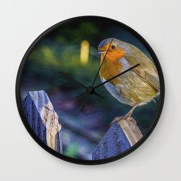 Christmas Robin. Wall Clock