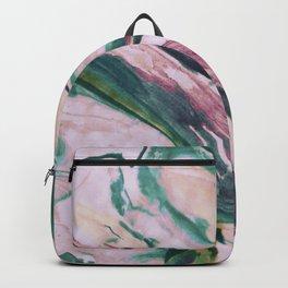 Pastel, light colored, pink, marble design Backpack
