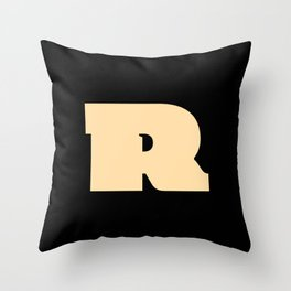 Cicciona »R« Throw Pillow