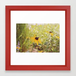 flower bees  Framed Art Print