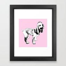 Ginger Happy Cocker Spaniel Framed Art Print
