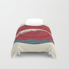 The Devil Roams These Waters Duvet Cover