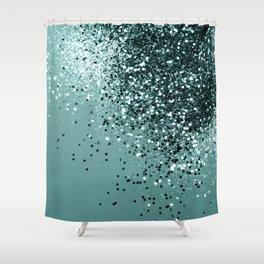 Teal Mermaid Ocean Glitter #1 #shiny #decor #art #society6 Shower Curtain