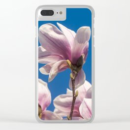 Magnolia tree blossoms Clear iPhone Case
