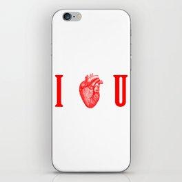 I - Heart - U iPhone Skin