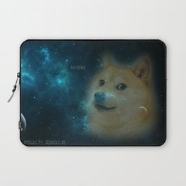 shibe doge in space Laptop Sleeve