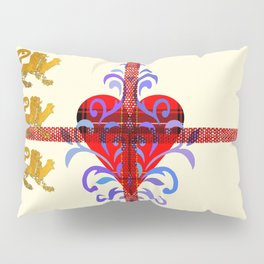 Three Lion Heart Pillow Sham