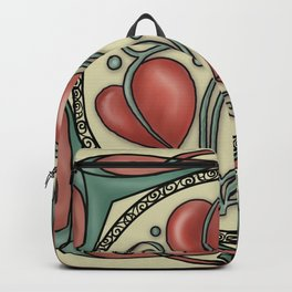 Hearts on a vine Backpack