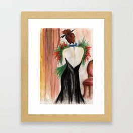Woman with flowers Framed Art Print