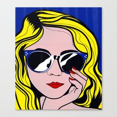 Pop Art Glamour Girl Canvas Print